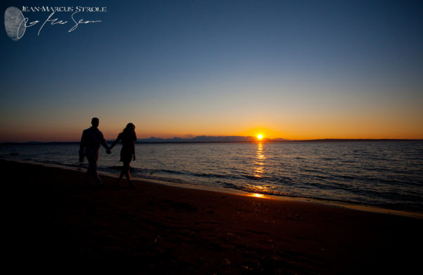 Golden Gardens Engagement Photography