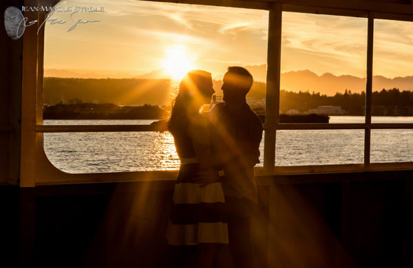 Seattle Ferry Engagement Photography