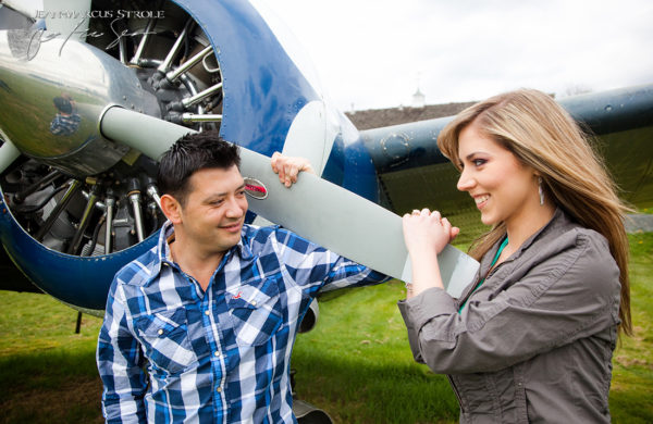 Aviation Engagement Photography