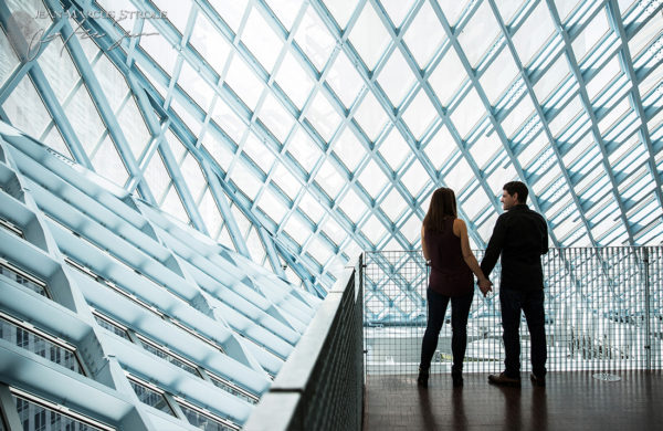 Seattle Library Engagement Photography