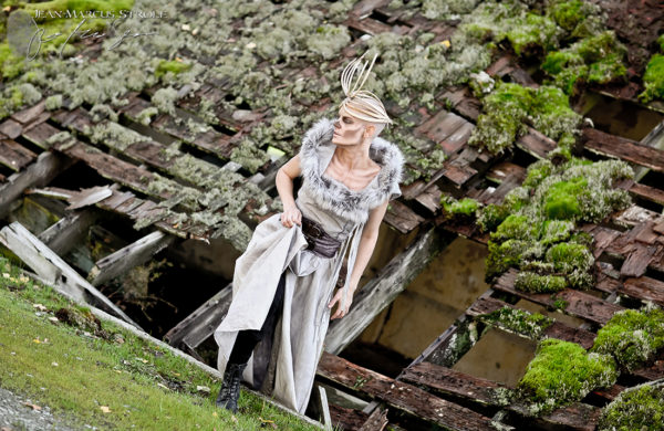 Model Kimber London Wearing Helene Hawthorne Fashions