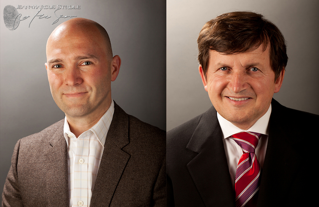 Studio Headshots of Eric Anderson and Charles Simonyi
