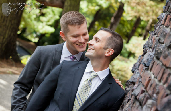 Same Sex Portraits of Two Grooms at Volunteer Park