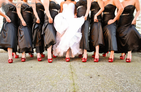 Bride and Bridemaid's Shoes