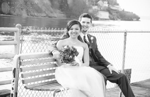 Bride and Groom at Ray's Boathouse