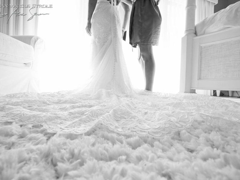 Cayman Islands Destionation Wedding Photography of Bride Getting Dressed