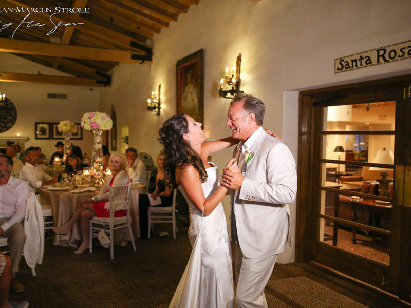 Destination Wedding Photography of First Dance at La Quinta Resort Palm Springs