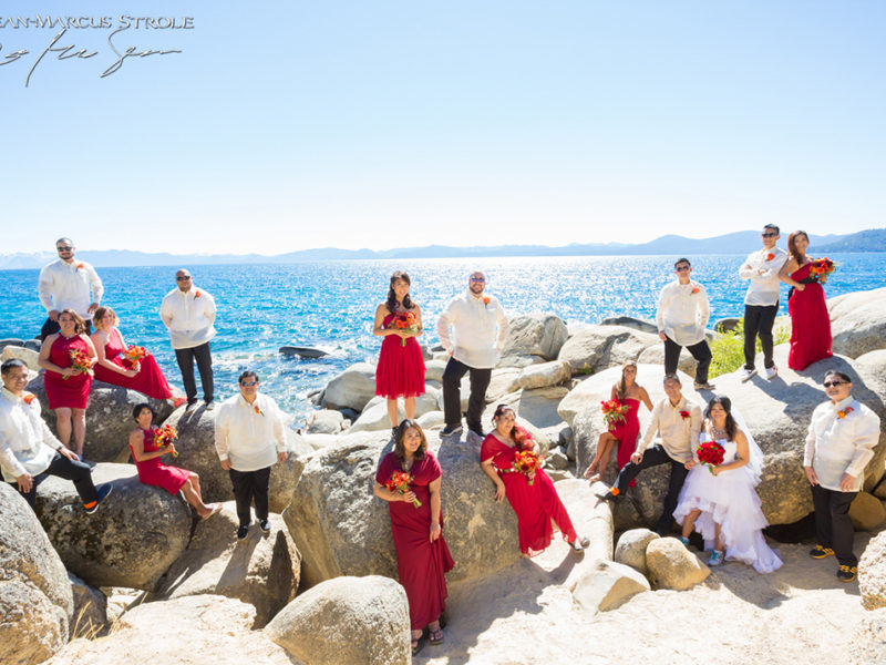 Destination Wedding Photography at Lake Tahoe of Wedding Party