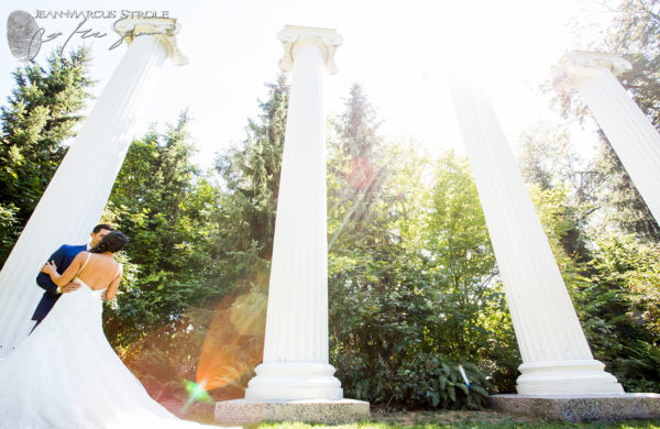 Bride and Groom at University of Washington