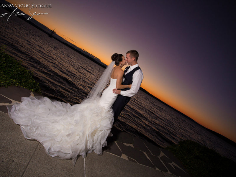 Sunset Wedding Photography at Woodmark Hotel