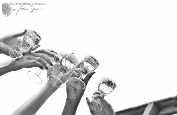 Wedding Photography of Bridesmaids Toasting