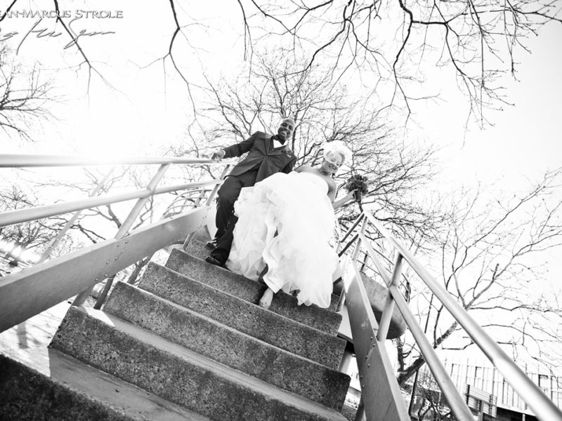 Wedding Photography outside of The Liberty Hotel in Boston