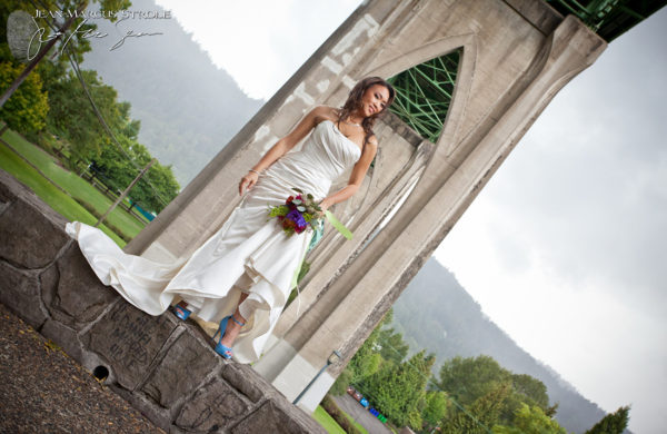 Portland Wedding Photography of Bride at Cathedral Park