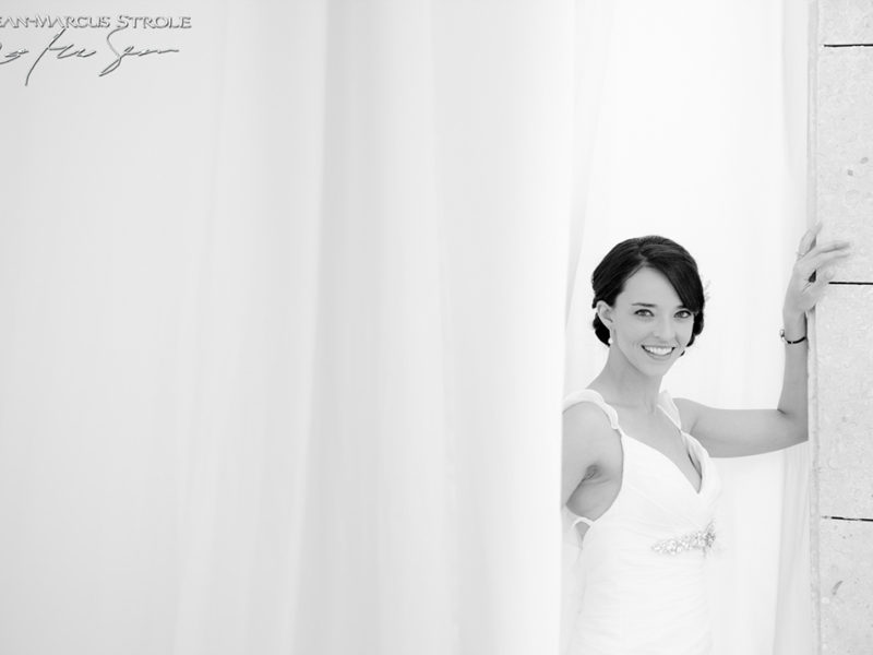 Destination Wedding Photography of Bride at Excellence Playa Mujeres