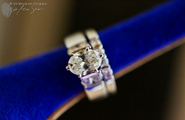 Detail Photograph of Bride's Wedding Bands