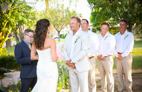 Destination Wedding Photography of Ceremony in Palm Springs