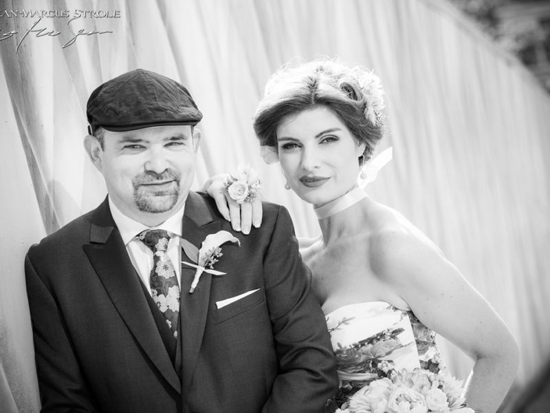 Bride and Groom Portrait Downtown Seattle
