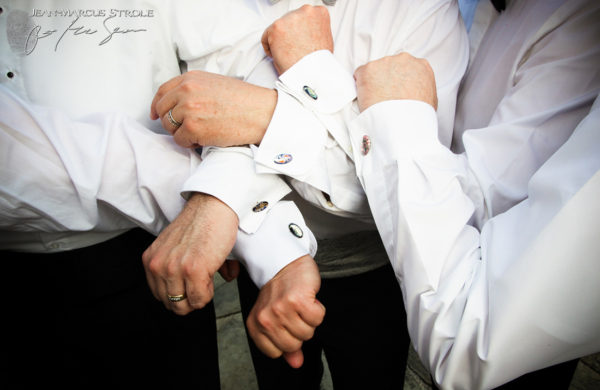 Destination Wedding in London England of Groomsmen's Cufflinks