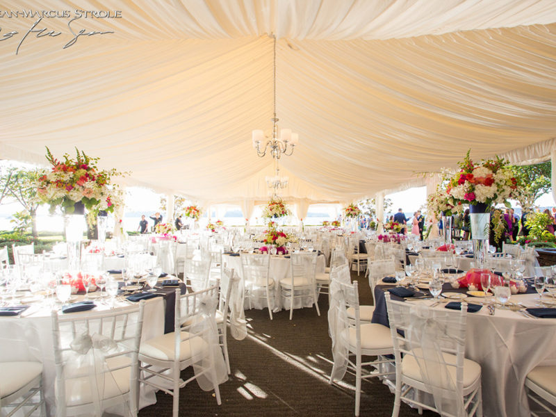 Wedding Photography at Woodmark Hotel of Reception Tent